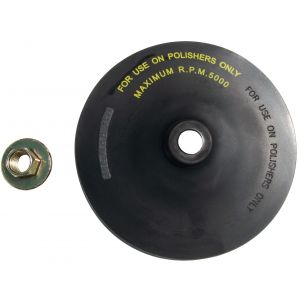 "7"" Rubber Backing Pad with Hex Spindle Nut"