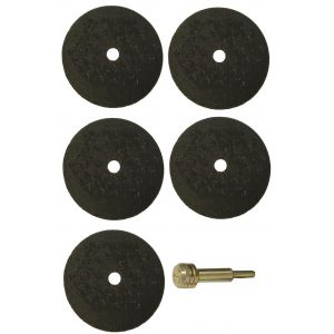 "Five 1/16"" Cut-Off Wheels with Arbor"