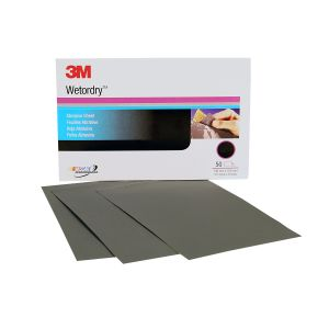 3M™ Wetordry™ Sheet, 2500 grade, 5 1/2 inches x 9 in