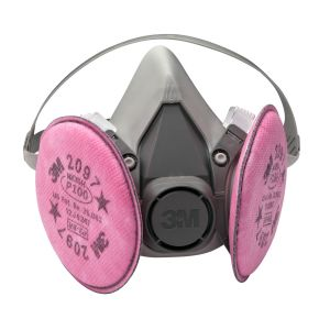3M™ Half Facepiece Respirator Packout 07182, Medium, with 3M™ Particulate Filters PN 07184, P100