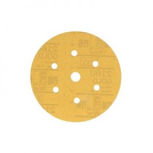 Hookit Gold 6 in P320 Grit Dust-Free Sanding Disc 216U (100/Box)